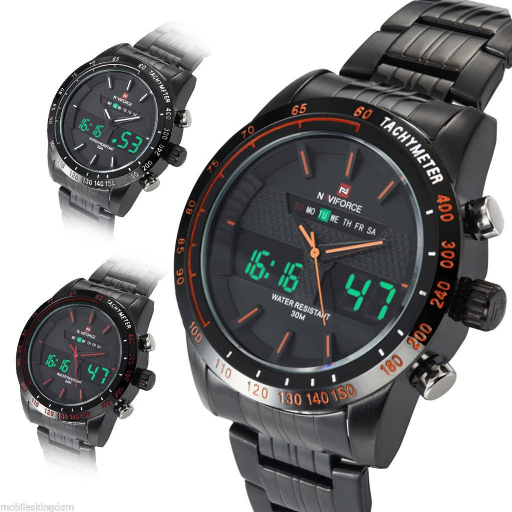 NAVIFORCE LED Sports Army Military Watches - Don Shopping 36f6fae2d5